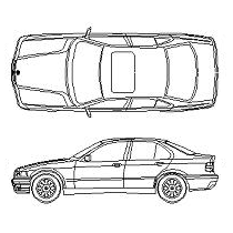 Cad Block of BMW 320i in dwg