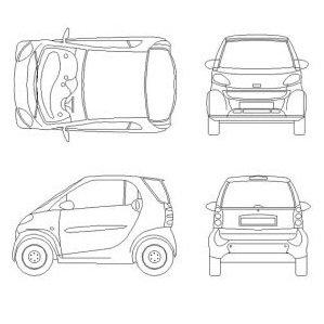 Smart car dwg block max cad smart car malvernweather Gallery