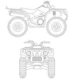 Cad Block of 4 wheeler – Quad in dwg