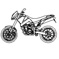 Cad Block of KTM motorbike in dwg