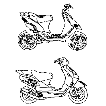 Cad Block of Scooters in dwg