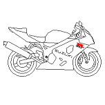 Cad Block of Suzuki 600 GSXR in dwg