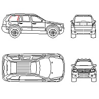 Cad Block of Volvo XC90 in dwg
