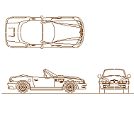 Cad Block of BMW Z3 in dwg