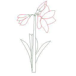 Cad Block of Flower elevation in dwg