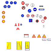 Cad Block of Roadsigns in dwg