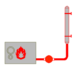 Cad Block of Heater, boiler in dwg