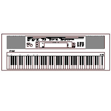 Cad Block of Electronic Keyboard with keys in dwg