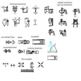 Gym equipment 2 dwg block max for Bloc autocad fenetre